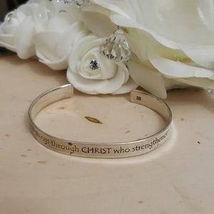 Jewelry - 925 Sterling Silver Signed Christian Bracelet